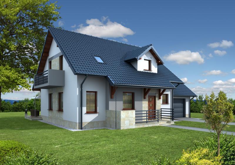 murator c110 dom za rogiem kontrast cz stochowa. Black Bedroom Furniture Sets. Home Design Ideas
